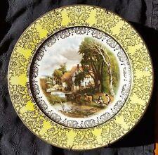 HOMER LAUGHLIN GEORGIAN 22 K GOLD PLATE CONSTABLE~VALLEY FARM AMSTERDAM HOLLAND