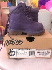 Kids Timberland Youth 6 Inch Premium Waterproof Leather Boots purple TBOA10CR