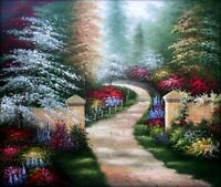 Quality Hand Painted Oil Painting Path to Garden 20x24in