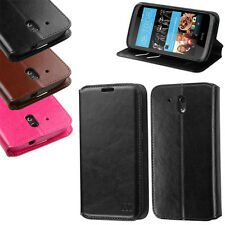For HTC Desire 526 Premium Wallet Case Pouch Flap STAND Cover Accessory