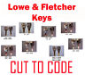 2 x Lowe & Fletcher Replacement Keys Cut to Code by Professional Locksmiths
