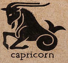 Capricorn Animal Horoscop Species Wall Hanging Home Design Marble Mosaic AN423
