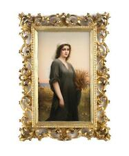 Large Kpm Porcelain Portrait Plaque of Ruth Signed E. Volk, 19th Century