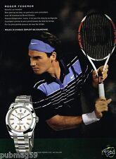 Publicité advertising 2010 La Montre Rolex Oyster Perpetual avec Roger Federer