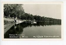 Camp Preston RPPC Alexandria MN Rare Vintage McCabe's Camera—Canoes 1950s