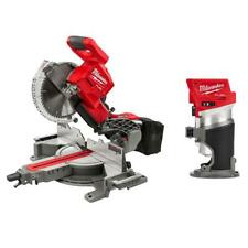 Miter Saw Dual Bevel Sliding Compound Compact Router Brushless 10 Inch Cordless