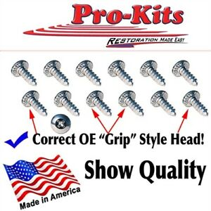 Fits Dodge Plymouth Chrysler OE Quality Scuff Door Sill Plate Screws Kit