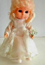 Music Box, Doll, Girl, Blonde, Ribbons, Flowers, Blue Eyes, Eyelids Open & Close