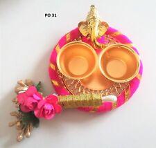 Indian Puja Thali Trendy Decorative Hindu Mini Pooja Prayer Plate Home Decor