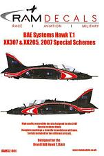 RAM Models Decals 1/32 BAE SYSTEMS HAWK T.1 2007 SPECIAL SCHEMES