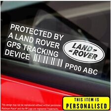 4 x Land Rover PERSONALISED GPS Tracking Device-Security Stickers-Alarm-Tracker