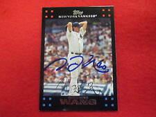 2007 Topps Chien Ming Wang autograph baseball card  Yankees  signature Taiwan