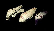 STAR TREK Micro Machines - 3 KAZON SHIPS LOT - Mothership Raider Fighter Voyager