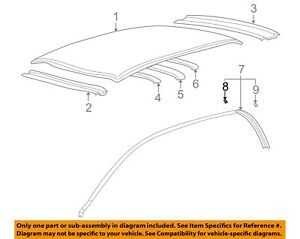 HYUNDAI OEM 02-05 XG350 Roof-Drip Rail Clip Left 8287339000