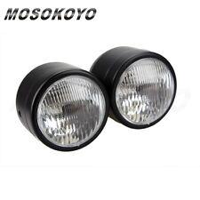 Twin Headlight Motorcycle Double Dual Lamp Motocross Streetbike Dominator New