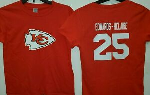 0916 BOYS YOUTH Kansas City Chiefs CLYDE EDWARDS-HELAIRE Jersey Shirt RED New