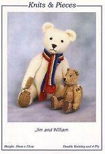 2 di giunti sferici TEDDY BEARS JIM & WILLIAM Giocattolo knitting pattern da Sandra polley-NUOVO