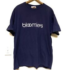 Vintage Bloomingdales T-shirt XL Single Stitch Bloomies Single Stitch Navy Blue