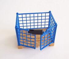 PLAYMOBIL (Z402) PORT - Cage Grille sur Palette Zone de Chargement 4135 4474