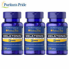 Puritan's Pride Melatonin 3 mg  Sleep Aid (360 tablets)
