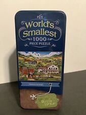 """World's Smallest 1000 Piece Puzzle """"Homecoming"""" Bonnie White, Masterpieces Tin"""