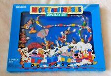 Vintage 1988 Disney Mickey and Friends 9 piece jewelry set NIP!! RARE!