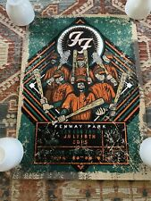 Foo Fighters Boston Fenway poster Brad Klausen 2015 264/400 Limited 17x24 Inches