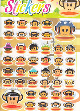 A4 Size Paul Frank Cartoon Puffy Sticker Label For Kid Party Gift