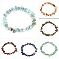 Stylish Women Lots Style Nuggets Natural Gemstone Bracelet Bangle Chain Jewelry