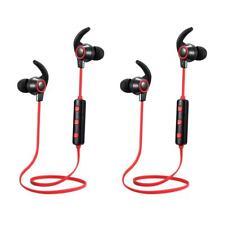 2x Écouteurs Intra-auriculaires Sport Bluetooth Sans Fil Casques Avec Micro