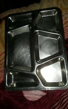 Vtg Antique WWII U.S. Navy/Army Mess Tray M.A.Co. Stainless 1943 Lot of(6)