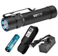 Olight S2 Baton 950 Lumens CREE XM-L2 LED Flashlight w/ 18650 Battery & Charger