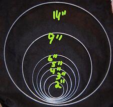 "2 Set 14"" Metal Dream Catcher Rings Macrame Ring Mandellas Dreamcatchers Shields"