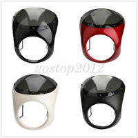 "Retro 7"" Headlight Fairing Cafe Racer Handlebar Screen Windshield For Harley"