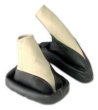 Schaltsack + Handbremsmanschette OPEL VECTRA B 100% ECHT LEDER schwarz beige