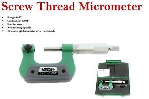"Insize screw thread micrometer 0-1"" code:3281-1  graduation 0.002mm"