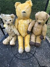 Trio Of Very Loved Antique Teddy Bears