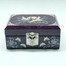 Purple jewelry box inlaid with mother of pearl storage box for trinketry
