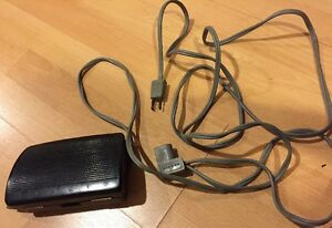 Vintage Singer Sewing Machine Foot Pedal And Cord Plug Untested Part 618811-002