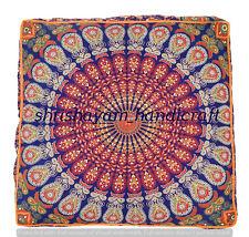 Square Mandala Cushion Cover Decorative Floor Pillows Ethnic Meditation Cushion