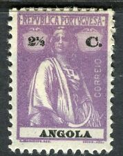 PORTUGUESE ANGOLA;  1914-20s early Ceres issue fine Mint hinged 2.5c. value