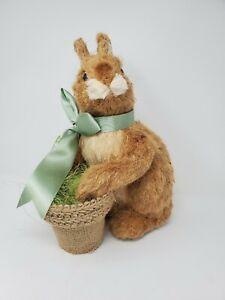 "Sisal Easter Bunny Rabbit with Basket 12""  ""NEW"""