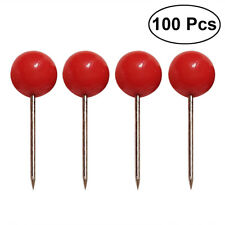 100Pcs Push Pins Ball Round Head Tacks Pushpins with Stainless Point for DIY Map