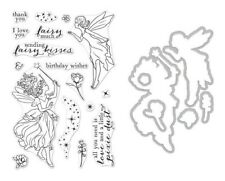 Hero Arts Poly Clear Stamp Set & Die Combo Fairy Kisses