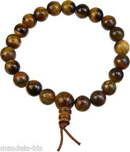 Bracelet Mala Tibétain - Oeil de Tigre