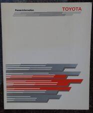 Pressemappe Toyota Landcruiser Turbo Diesel Station Wagon VX 80er Jahre