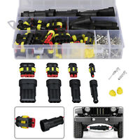 26 Sets 1-4 Pin Electrical Wire Connector Plug Set Waterproof Automotive Plug