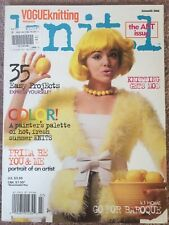 Vogue Knitting Knit.1 Magazine Patterns Modern