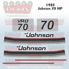 1985 Johnson 70 HP Sea-Horse Outboard Reproduction 10 Pc Marine Vinyl Decals