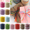 200m Raffia Ribbon Paper Rope Wrapping Gift Box String Roll Twine Cord Decors